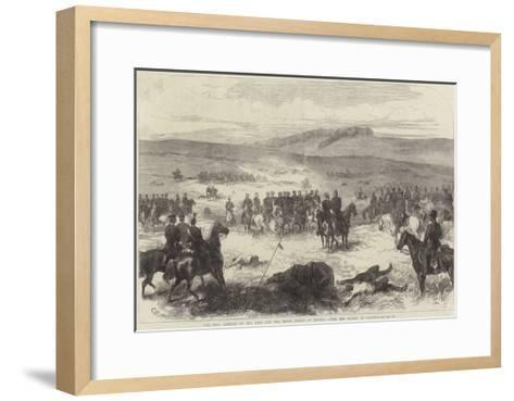 The War, Meeting of the King and the Crown Prince of Prussia after the Battle of Sadowa--Framed Art Print