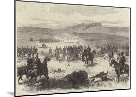The War, Meeting of the King and the Crown Prince of Prussia after the Battle of Sadowa--Mounted Giclee Print