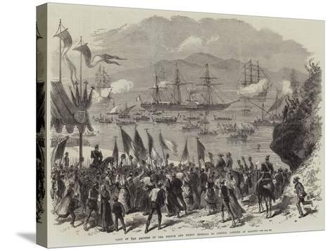 Visit of the Empress of the French and Prince Imperial to Corsica, Landing at Ajaccio--Stretched Canvas Print