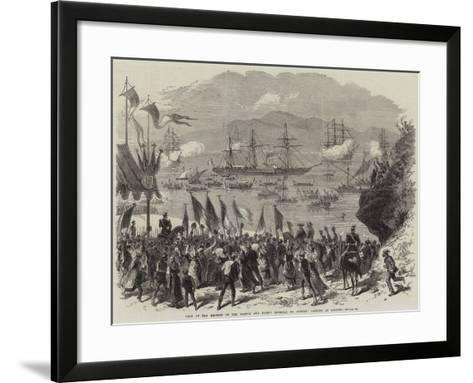 Visit of the Empress of the French and Prince Imperial to Corsica, Landing at Ajaccio--Framed Art Print