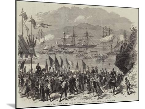 Visit of the Empress of the French and Prince Imperial to Corsica, Landing at Ajaccio--Mounted Giclee Print