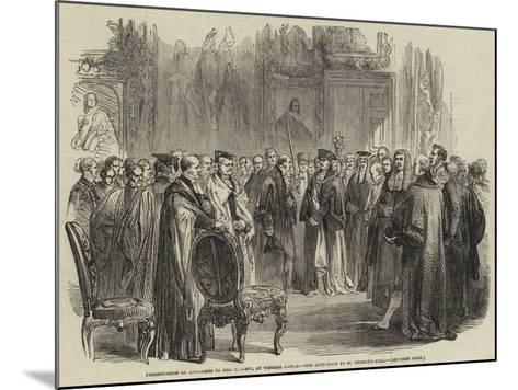 Presentation of Addresses to Her Majesty, at Windsor Castle, the Ante-Room to St George's Hall--Mounted Giclee Print