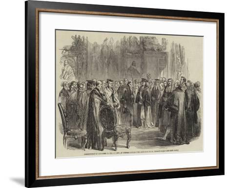 Presentation of Addresses to Her Majesty, at Windsor Castle, the Ante-Room to St George's Hall--Framed Art Print