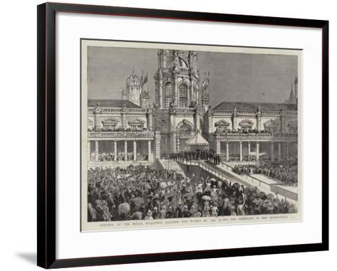 Opening of the Royal Holloway College for Women by the Queen, the Ceremony in the Quadrangle--Framed Art Print
