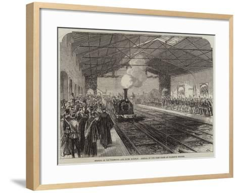 Opening of the Falmouth and Truro Railway, Arrival of the First Train at Falmouth Station--Framed Art Print