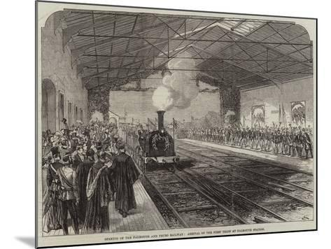 Opening of the Falmouth and Truro Railway, Arrival of the First Train at Falmouth Station--Mounted Giclee Print