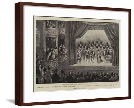 Opening Night at the Wyndham Theatre, for the Benefit of Soldiers' Widows and Orphans--Framed Art Print