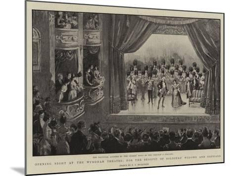 Opening Night at the Wyndham Theatre, for the Benefit of Soldiers' Widows and Orphans--Mounted Giclee Print