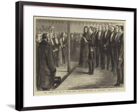 The Coming of Age of Prince Louis Napoleon, Reception at Chislehurst, 16 March 1874--Framed Art Print