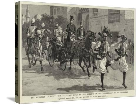 The Situation in Egypt, the Reception Given by the Khedive on the Anniversary of His Accession--Stretched Canvas Print