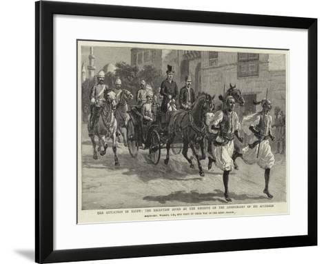 The Situation in Egypt, the Reception Given by the Khedive on the Anniversary of His Accession--Framed Art Print