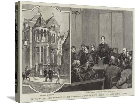 Opening of the New Buildings of the Cambridge University Union Society by Prince Albert Victor--Stretched Canvas Print