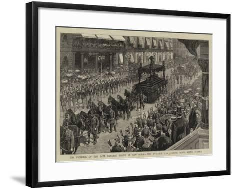 The Funeral of the Late General Grant in New York, the Funeral Car Passing Down Fifth Avenue--Framed Art Print