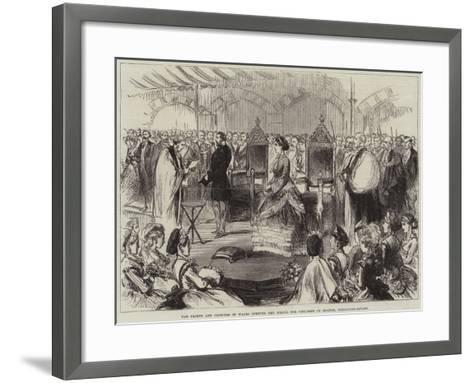 The Prince and Princess of Wales Opening the School for Children of Seamen, Wellclose-Square--Framed Art Print