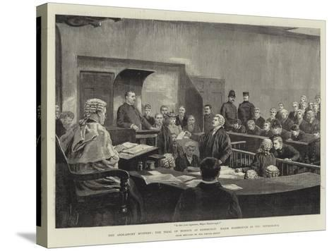 The Ardlamont Mystery, the Trial of Monson at Edinburgh, Major Hambrough in the Witness-Box--Stretched Canvas Print