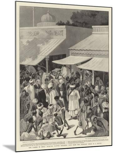 The Famine in India, Starving Natives Obtaining Food from the Bunniahs' Shops in a Bazaar--Mounted Giclee Print