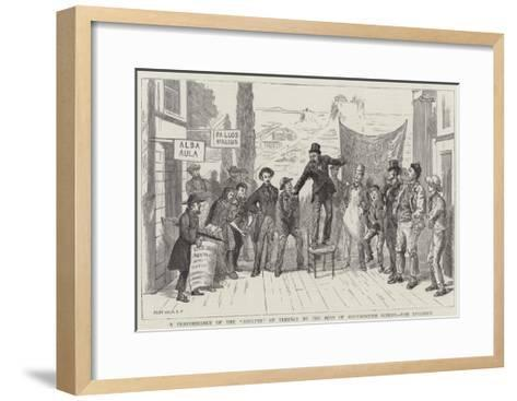 A Performance of the Adelphi of Terence by the Boys of Westminster School, the Epilogue--Framed Art Print