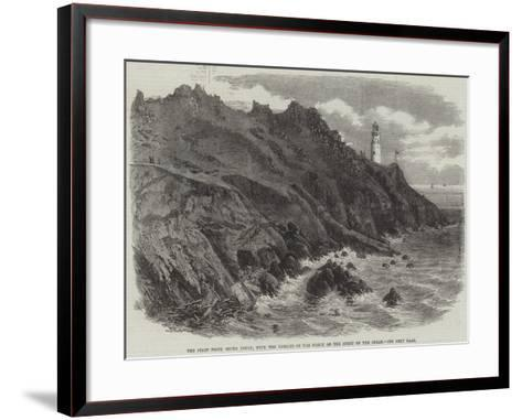 The Start Point, South Devon, with the Remains of the Wreck of the Spirit of the Ocean--Framed Art Print
