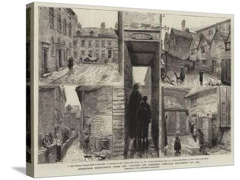 Birmingham Improvements under the Artisan's and Labourers' Dwellings Improvement Act, 1875--Stretched Canvas Print