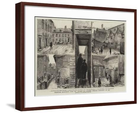 Birmingham Improvements under the Artisan's and Labourers' Dwellings Improvement Act, 1875--Framed Art Print