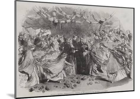 The Royal Progress, Presentation of a Bouquet to the Princess by the Mayoress of Gravesend--Mounted Giclee Print