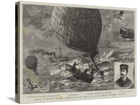 Rescue of Belgian Military Aeronauts in the North Sea by the British Steamship Warrior--Stretched Canvas Print