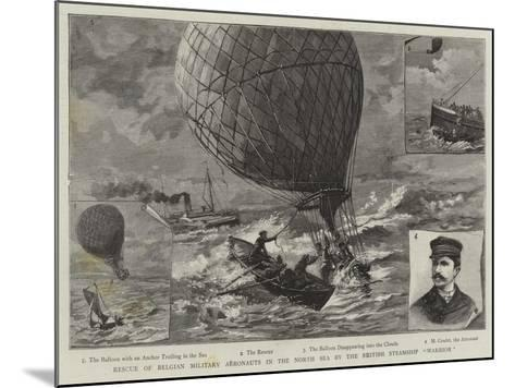 Rescue of Belgian Military Aeronauts in the North Sea by the British Steamship Warrior--Mounted Giclee Print