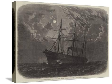 The Atlantic Telegraph Expedition, the Albany Buoying the Bight of the Cable of 1865--Stretched Canvas Print
