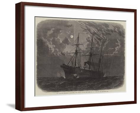 The Atlantic Telegraph Expedition, the Albany Buoying the Bight of the Cable of 1865--Framed Art Print