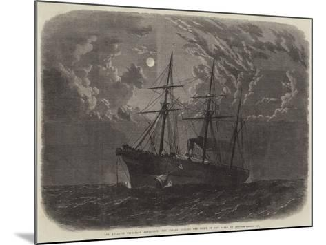 The Atlantic Telegraph Expedition, the Albany Buoying the Bight of the Cable of 1865--Mounted Giclee Print