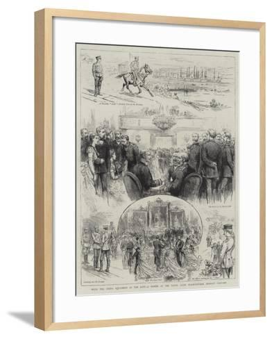 With the China Squadron in the East, a Soiree at the Naval Club, Vladivostock, Russian Tartary--Framed Art Print