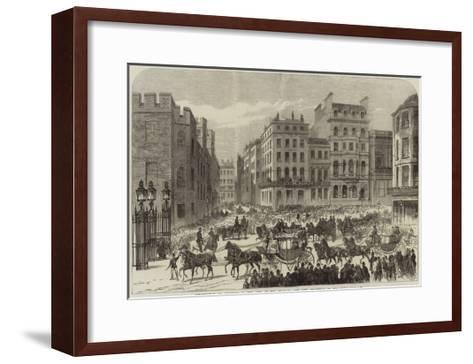 Presentation of Addresses to the King of the Belgians, the City Procession in Pall-Mall--Framed Art Print