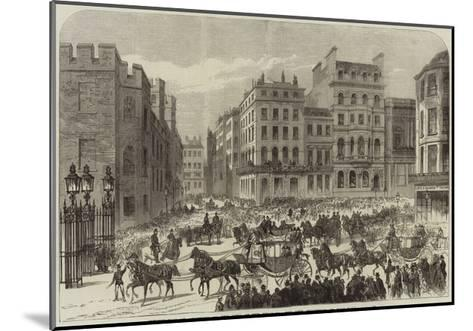 Presentation of Addresses to the King of the Belgians, the City Procession in Pall-Mall--Mounted Giclee Print