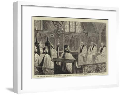 The Church Congress at Newcastle, the Bishops at the Opening Service in St Nicholas Church--Framed Art Print
