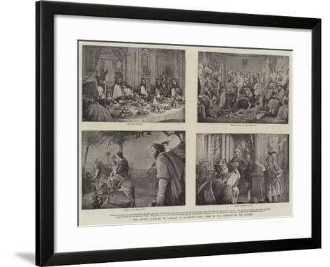 The Sacred Mountain of Varallo, in Northern Italy, Some of the Tableaux in the Chapels--Framed Art Print