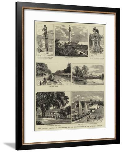 The Volcanic Eruption in Java, Sketches in the Neighbourhood of the Affected Districts--Framed Art Print