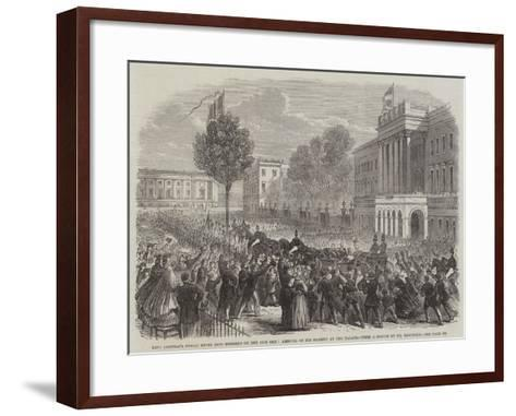 King Leopold's Public Entry into Brussels on the 24th Ult, Arrival of His Majesty at the Palace--Framed Art Print