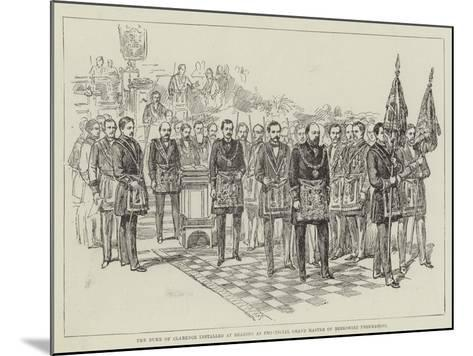 The Duke of Clarence Installed at Reading as Provincial Grand Master of Berkshire Freemasons--Mounted Giclee Print