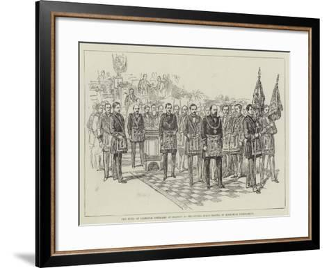 The Duke of Clarence Installed at Reading as Provincial Grand Master of Berkshire Freemasons--Framed Art Print