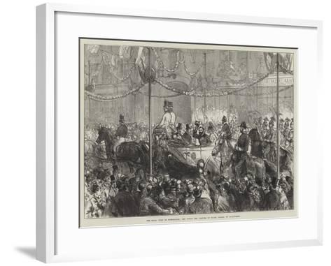 The Royal Visit to Birmingham, the Prince and Princess of Wales Passing Up Bull-Street--Framed Art Print