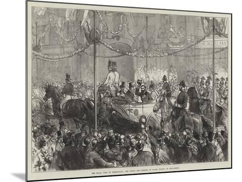 The Royal Visit to Birmingham, the Prince and Princess of Wales Passing Up Bull-Street--Mounted Giclee Print
