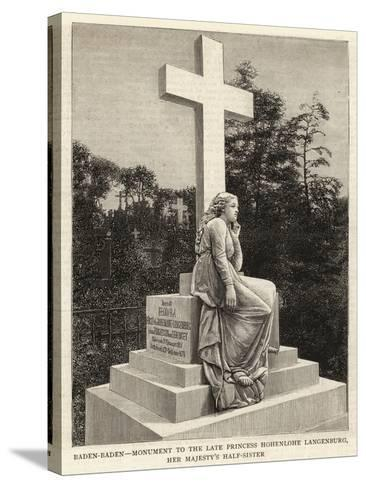 Baden-Baden, Monument to the Late Princess Hohenlohe Langenburg, Her Majesty's Half-Sister--Stretched Canvas Print
