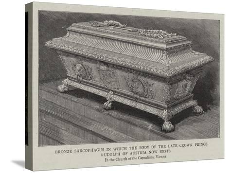 Bronze Sarcophagus in Which the Body of the Late Crown Prince Rudolph of Austria Now Rests--Stretched Canvas Print