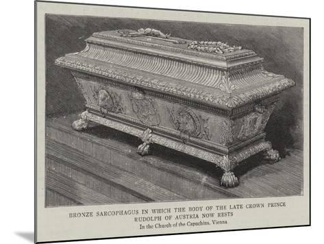 Bronze Sarcophagus in Which the Body of the Late Crown Prince Rudolph of Austria Now Rests--Mounted Giclee Print