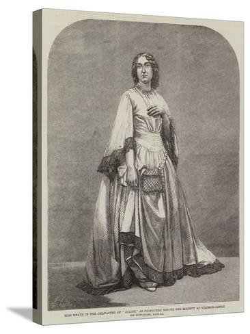Miss Heath in the Character of Juliet, as Performed before Her Majesty at Windsor Castle--Stretched Canvas Print