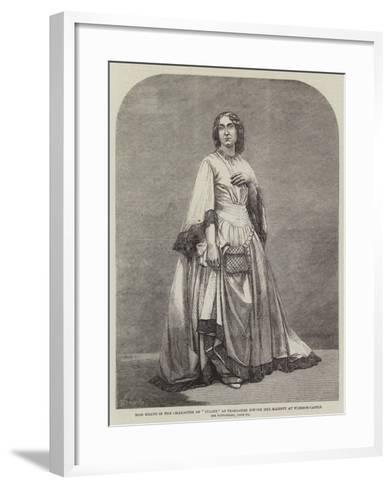 Miss Heath in the Character of Juliet, as Performed before Her Majesty at Windsor Castle--Framed Art Print
