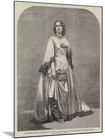 Miss Heath in the Character of Juliet, as Performed before Her Majesty at Windsor Castle--Mounted Giclee Print