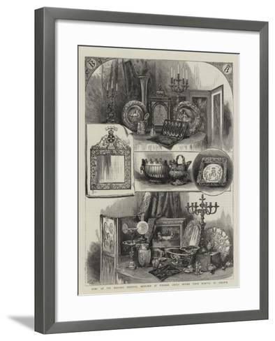 Some of the Wedding Presents, Sketched at Windsor Castle before their Removal to Osborne--Framed Art Print