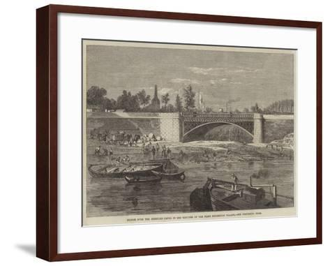 Bridge over the Intended Canal in the Grounds of the Paris Exhibition Palace--Framed Art Print