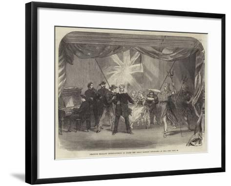 Amateur Dramatic Entertainment on Board the Great Eastern Steam-Ship at Sea--Framed Art Print